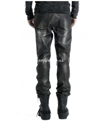 Black Decadent Gothic Punk Leather Pants for Men ( Get your goth on with gothic punk clothing - a favorite repin of www.vipfashionaustralia.com )