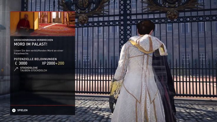 """Plattform: Playstation 4 Pro  Gespielt wird in Assassin's Creed Syndicate die Groschenroman-Verbrechen: """"Mord im Palast!"""". Teil 1 von 2."""