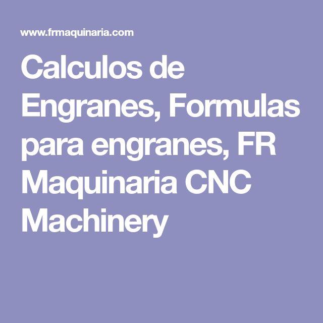 Calculos de Engranes, Formulas para engranes, FR Maquinaria CNC Machinery