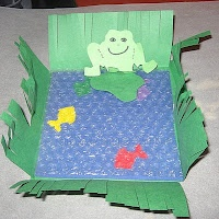 Bubble wrap Pond craft using bubble wrap...Moses