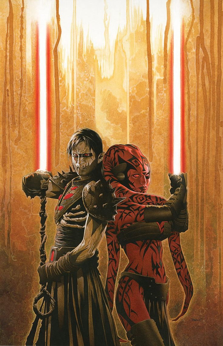 Sith Lords. Twi'lek on right is Darth Talon. Don't know who the other one is.