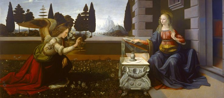 Leonardo da Vinci, Annunciazione, 1472-1475