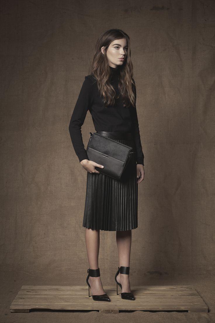 Portfolio Clutch #Clutch  #Handbag #FW15  #Leather #Calfhair #Black #Portfolioclutch