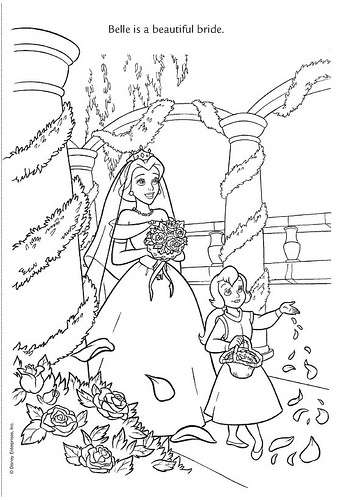 disney wedding coloring pages - photo#22