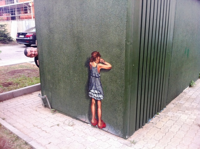Playing hide-and-seek  Street Painting