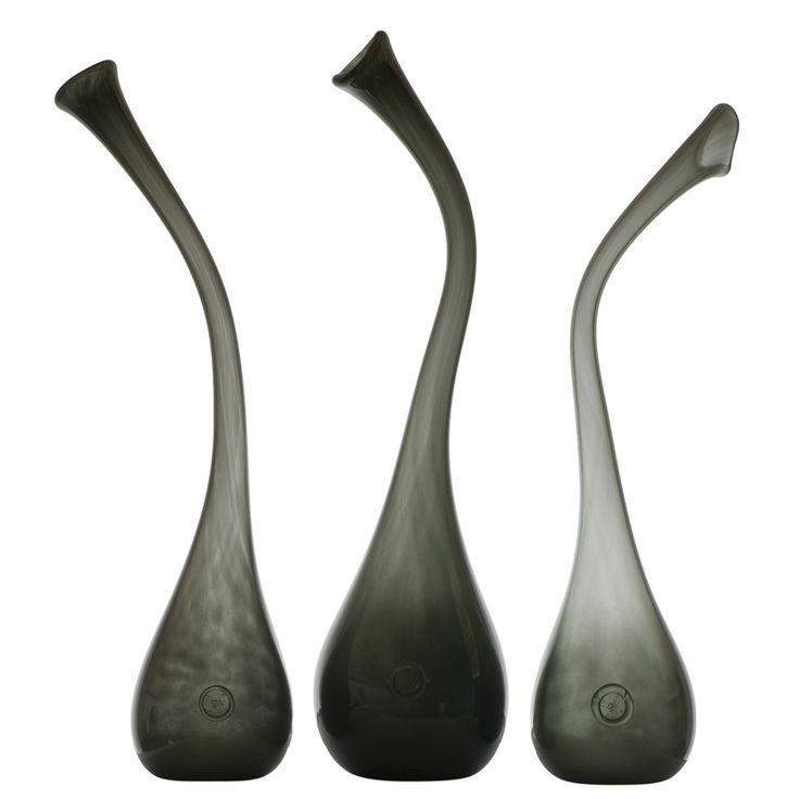 Glass grey vases Gie El