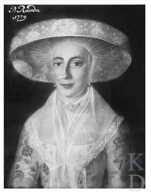 P. Roorda Portret van Geeske Suidema (1751-1832), 1779 #Friesland