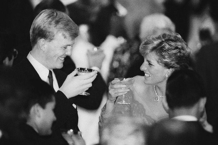 Prince Willem Alexander and Princess Diana toasting!