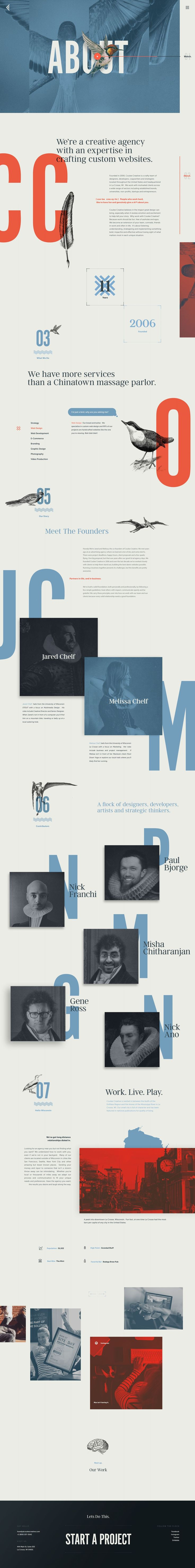 Coulee Creative Web Agency – Ui #design concept and visual identity by Nick Franchi.