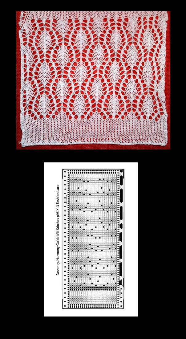 More beautiful machine knit lace