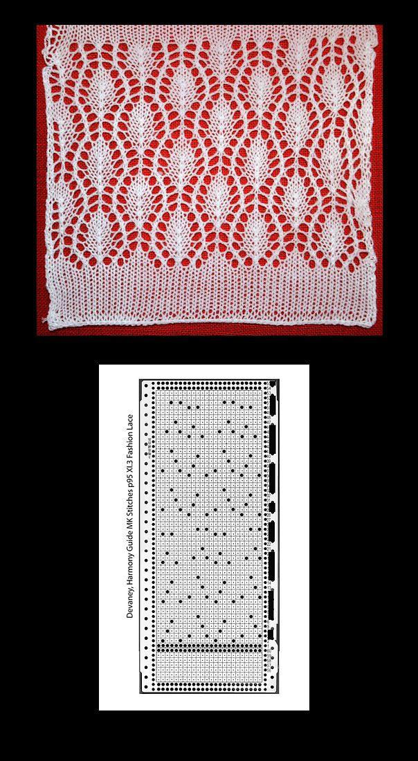 More beautiful machine knit lace