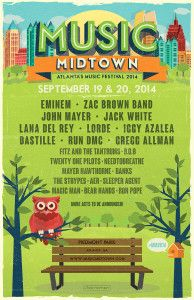 Music Midtown 2014 Poster -   Best lineup I have ever seen!!!