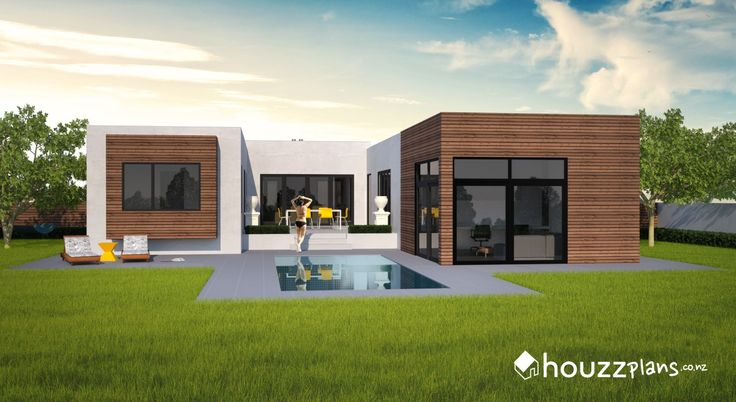Karson - Modern Contemporary House Plan .... Browse all house plans here: www.houzzplans.co.nz