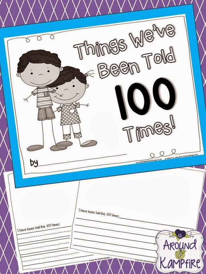 100th day writing activities kindergarten