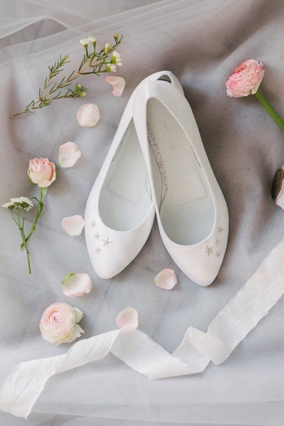 5a29061e0b66 Wedding shoes white wedding shoes bridal ballet flats low