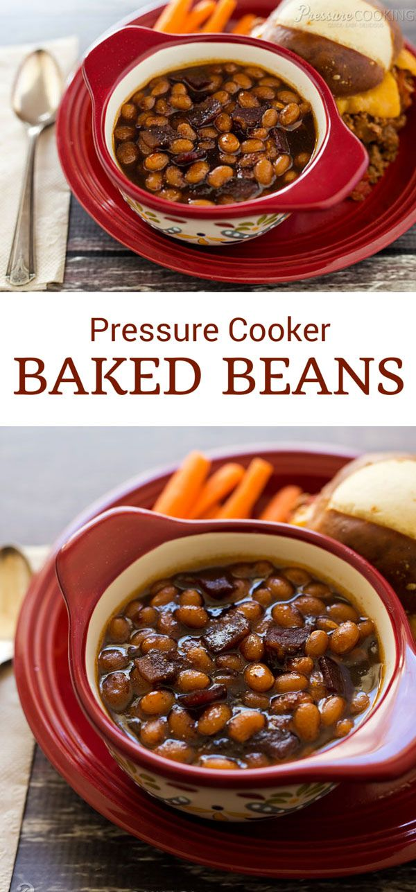 Pressure Cooker Baked Beans - a perfect side dish for summer barbecues and picnics.