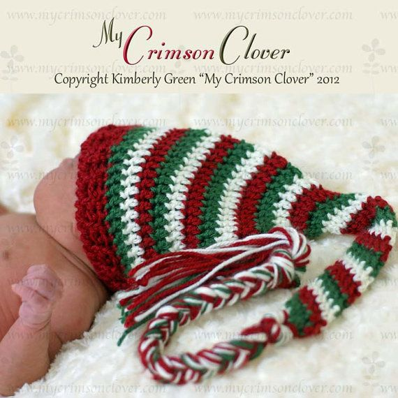 Crochet Pattern Stocking Hat : Pattern Crochet Baby Hat - Stocking Cap
