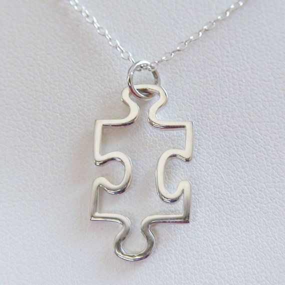 FashionJunkie4Life - Puzzle Piece Necklace in Sterling Silver, $18.00 Autism Awareness (http://www.fashionjunkie4life.com/puzzlepiecenecklace/)