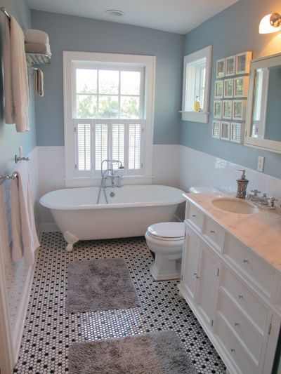 Have you been wondering how to make your bathroom seem more inviting and comfortable for yourself, your family members and guests? A blue bathroom makeover may be just the thing, and we have pulled some of the best blue bathroom ideas the internet has to offer to give you our top picks. Browse on to hopefully find something that inspires you to start remodelling your bathroom. Busy Bathroom Yes, this is a very busy room, but it doesn't become too crowded thanks to the soft colours and solid…
