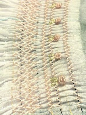A little smocking embroidery and sewing all rolled into one.