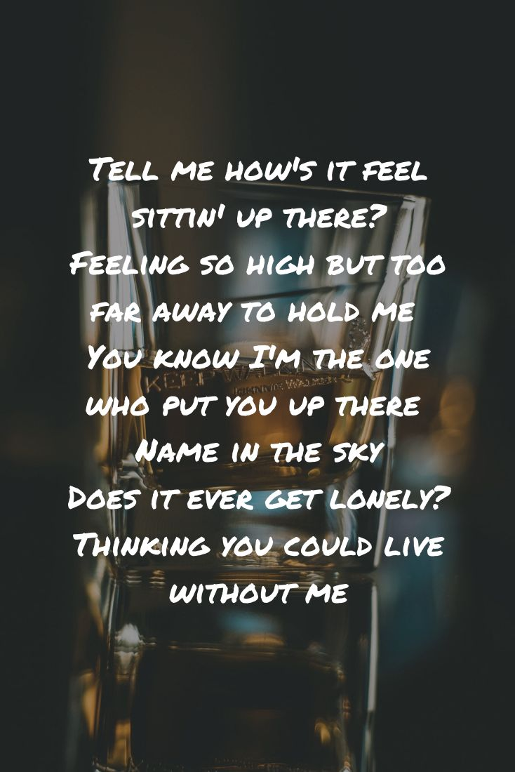 Without Me By Halsey Lyrics Tell Me How S It Feel