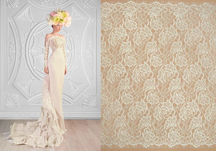 Shop your favourite lace on malagoli.ro!  This delicate and fine lace is available now here: https://www.malagoli.ro/en/product/md-193  #MalagoliFabrics #Fabrics #Lace #HauteCouture #Fashion #Dress #Gown