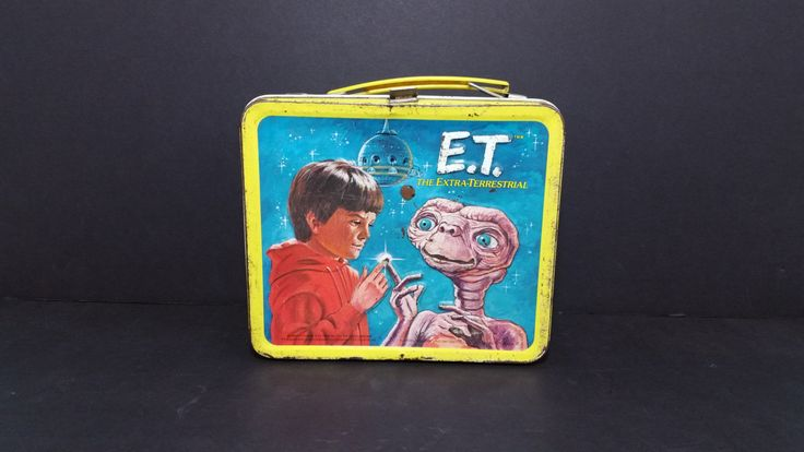 1982 ET The Extra Terrestrial Metal Aladdin Lunch Box by ForgottenGeekery on Etsy