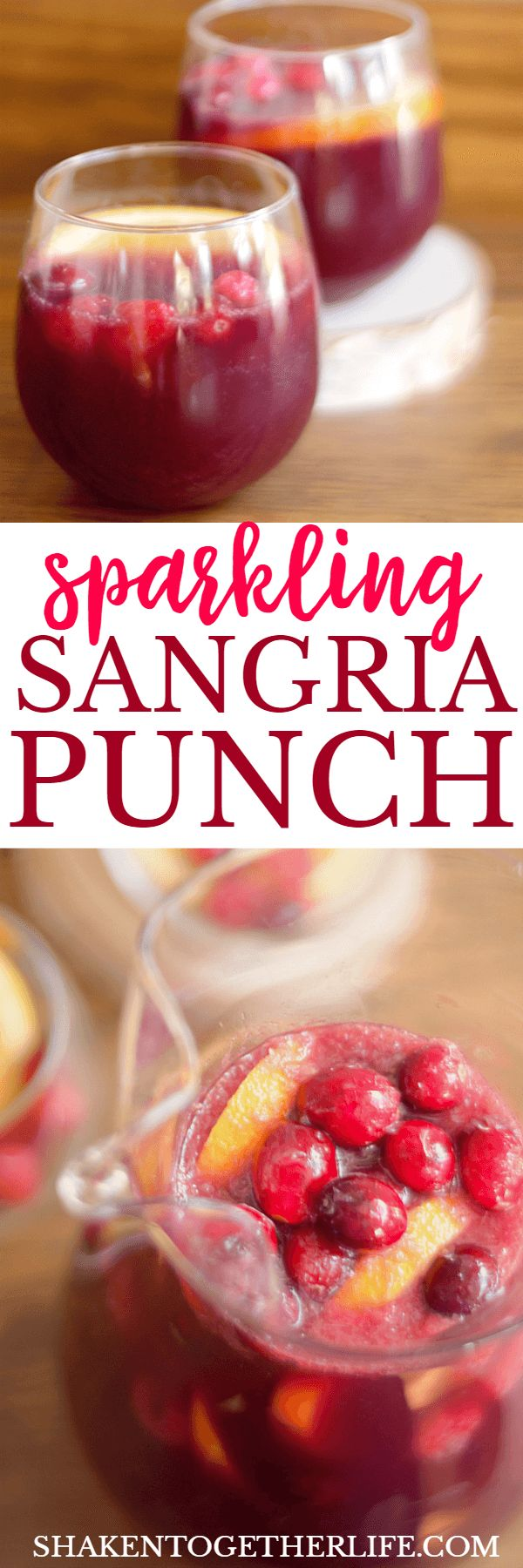 Sparkling Sangria Punch is festive and fruity without being too sweet or boozy!