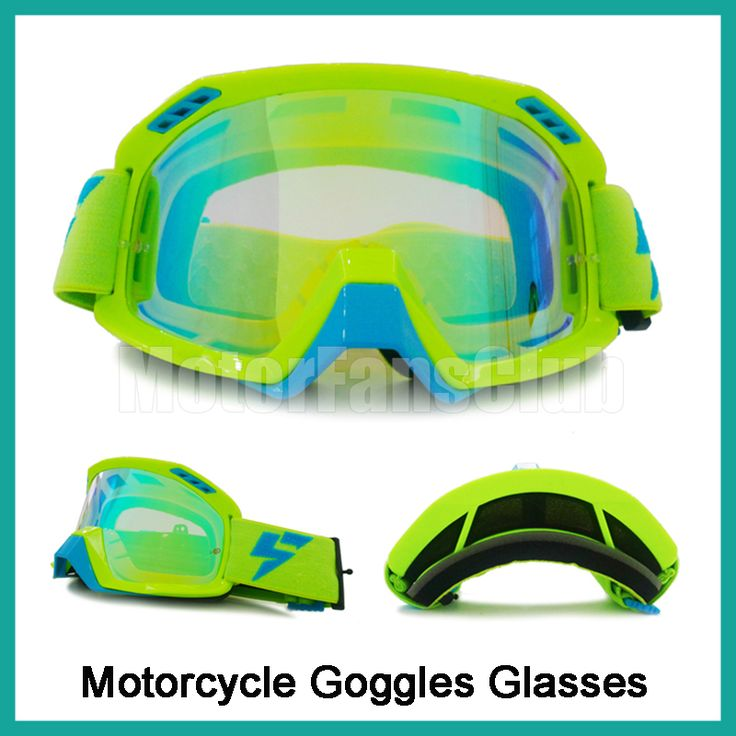 ==> [Free Shipping] Buy Best Motorcycle Motocross Goggles Glasses Helmet Racing Riding Dirt Bike ATV Goggles Clear Lens Off Road Adjustable Anti-shock Green Online with LOWEST Price | 32782180412