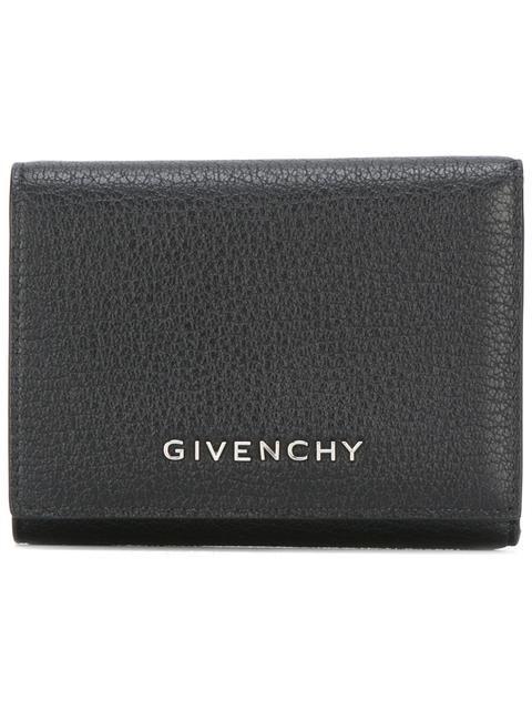 Shop Givenchy logo plaque wallet.