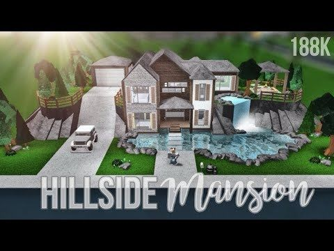 Bloxburg Hillside Mansion 188k Youtube With Images