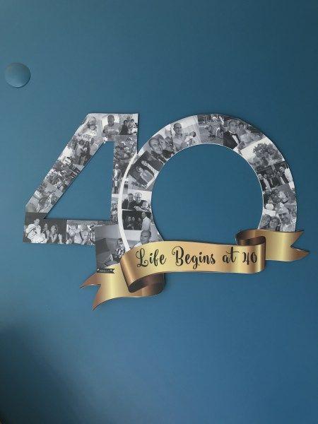 fotoğraflı 40 yaş parti çerçevesi, fotoğraflı 40 yaş anı çerçevesi, designbyceline tasarım ofisi  bedikyan@gmail.com