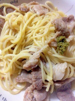 豚とゆず胡椒のパスタ レシピ