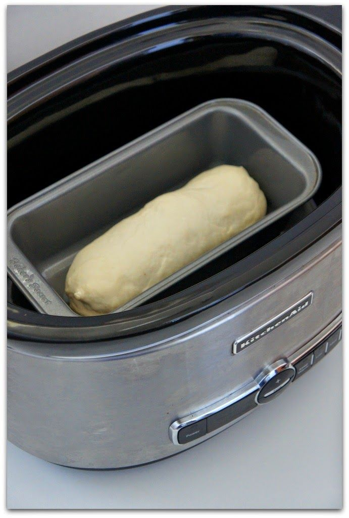 From time to time I will buy the frozen Rhodes bread dough loaves. As you know, it takes all day for the loaf to raise. I thought I would try and see if putting it in the crockpot could speed up the process. I placed the loaf in a bread loaf pan that fit inside …