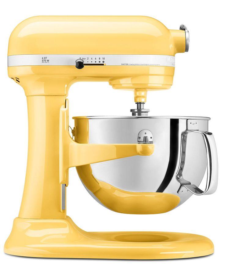 KitchenAid KP26M1X Stand Mixer, 6 Qt. Professional 600 in sunny yellow.