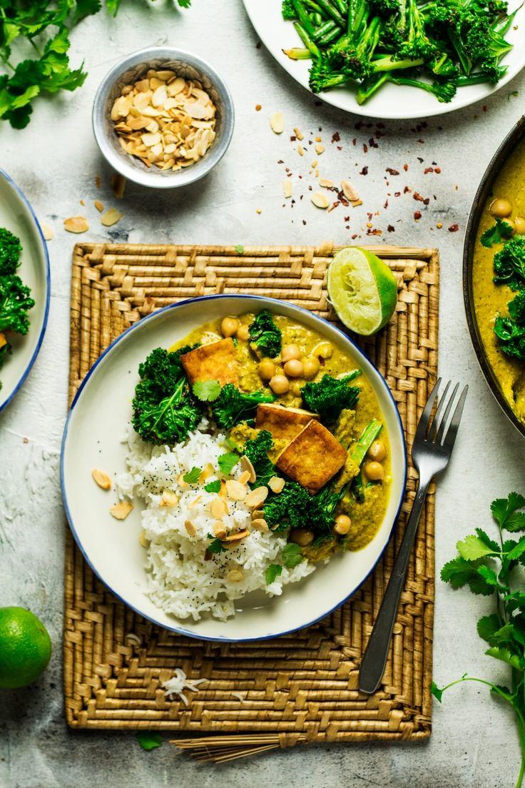 vegan tofu korma portion