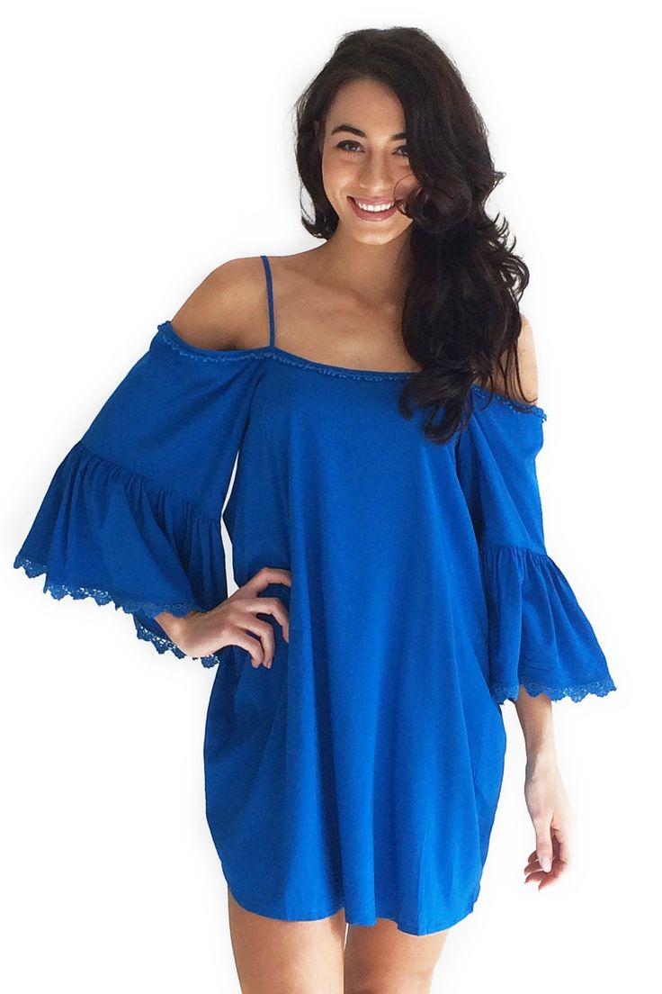 Molly Swing Dress in Blue $54.99