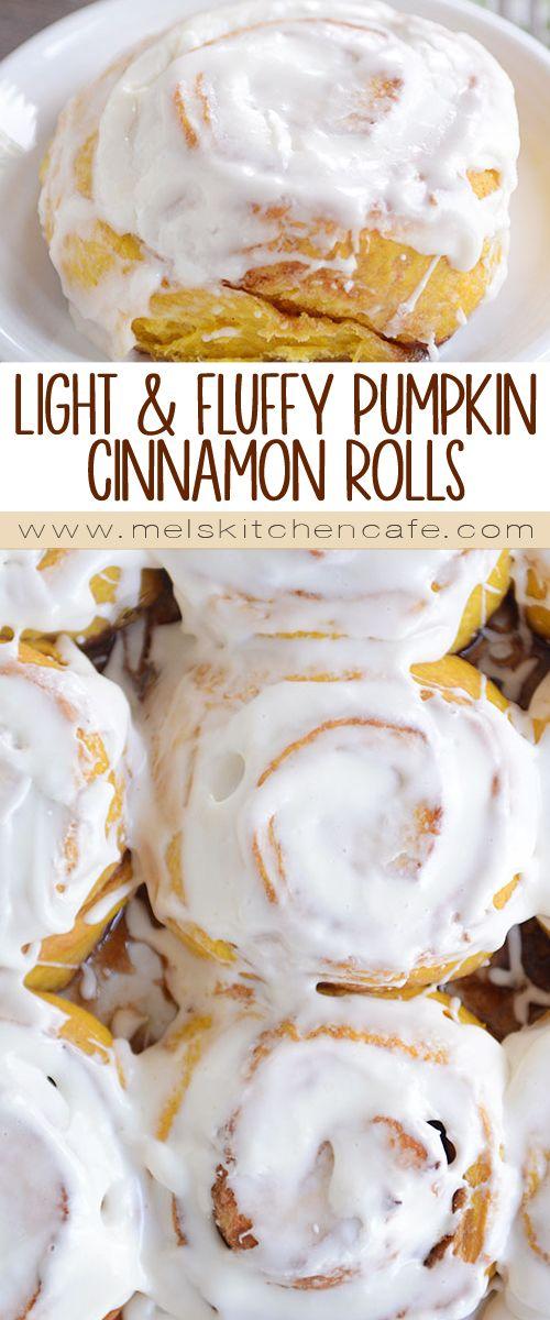 Light and Fluffy Pumpkin Cinnamon Rolls