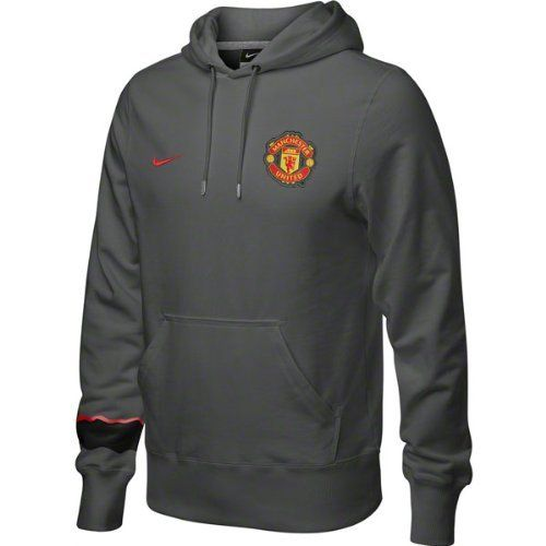 Manchester United Grey Core Hoody 2012-13 by Nike. $96.25. Front pouch pocket , Machine washable , 100% Cotton , Officially licensed. Core Emblem Hooded Sweatshirt. Rib knit cuffs and waist. Embroidered team crest. Drawstring hood. The Manchester United Grey Core Hoody 2012-13 is an official Nike product designed for the new Premier League seasons Manchester United clothing collection. There is a Manchester United club crest on the front left of the hoody and on the fron...