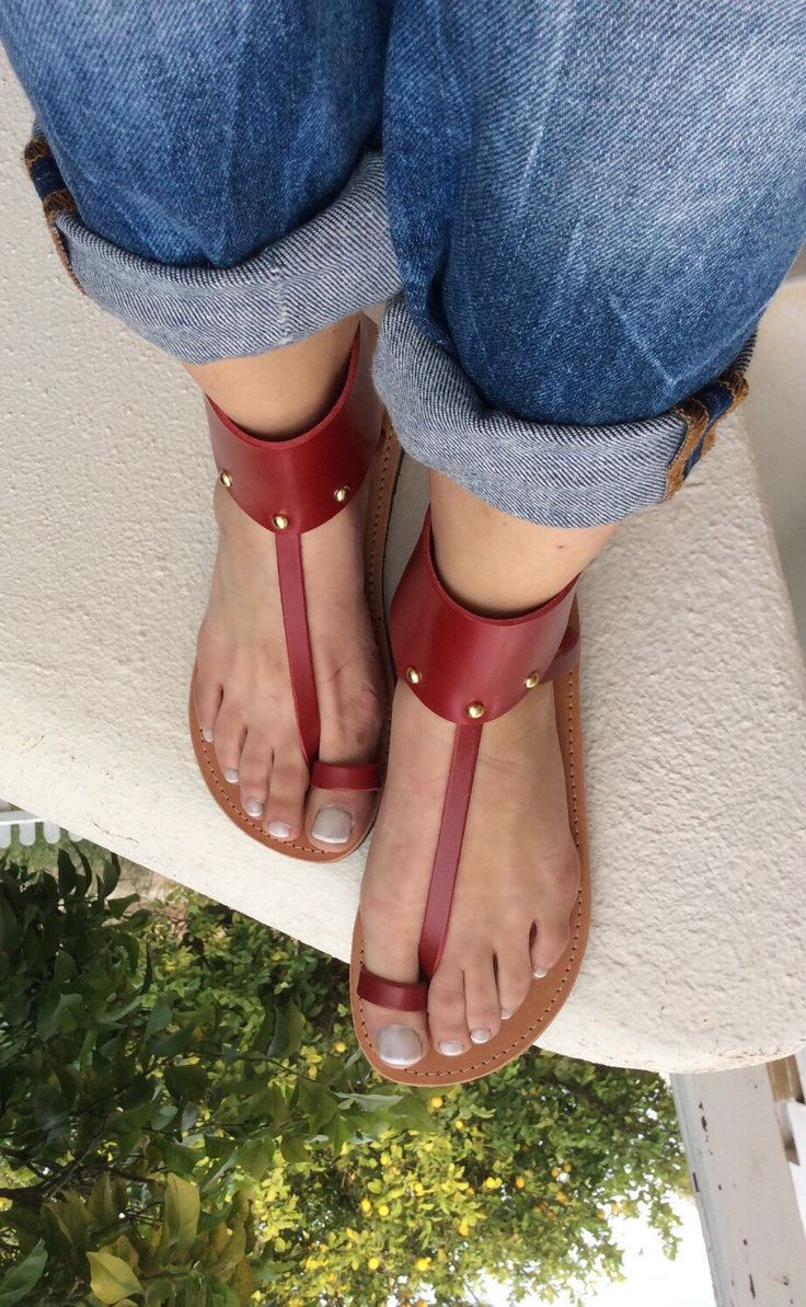 A personal favorite from my Etsy shop https://www.etsy.com/listing/278873252/greek-ankle-gladiator-sandals-red