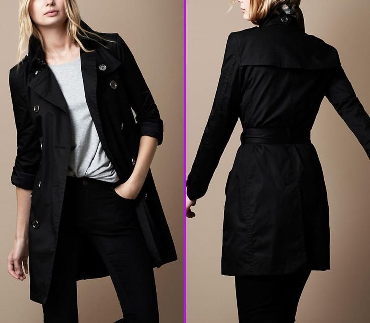 23 best Spectacular Black Trench Coat Women images on Pinterest ...