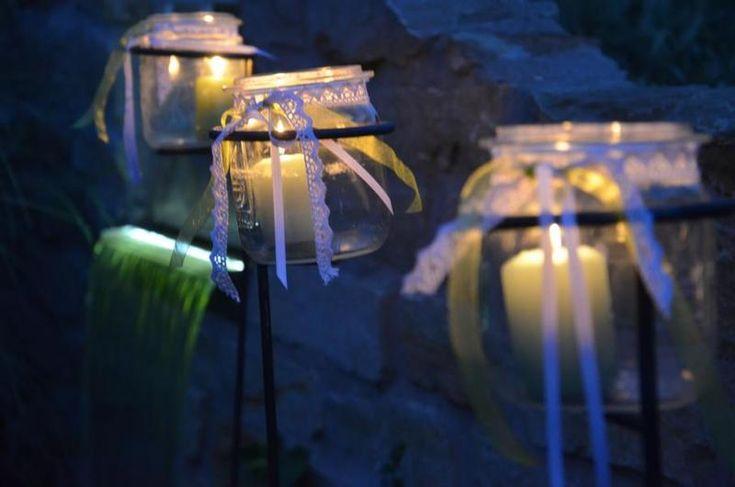 Hochzeit Windlichtstecker 3er Set Weckglas-Stecker von Majalino auf DaWanda.com
