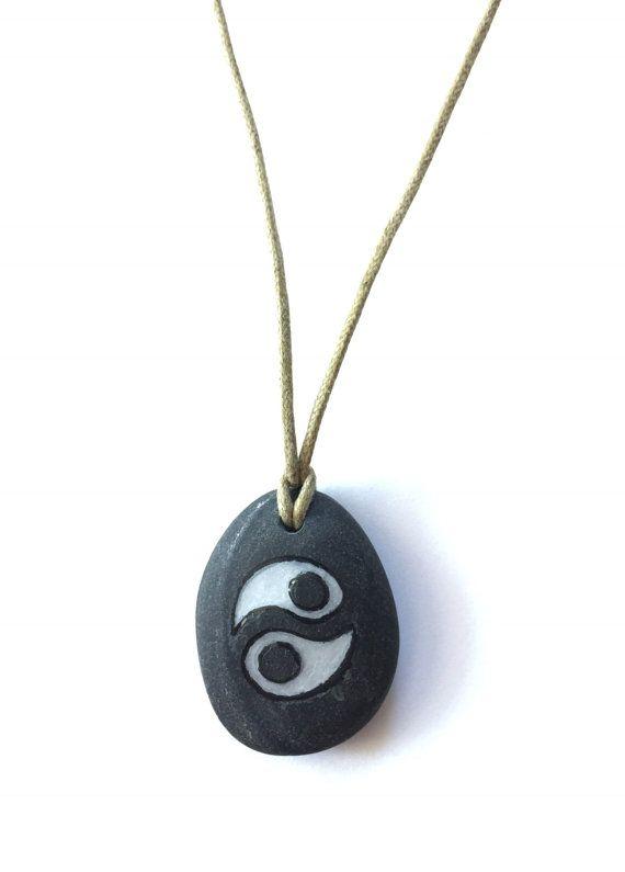Jin-Jang Pendant Stone Resin Jewellery Handmade Pendant by Zhag