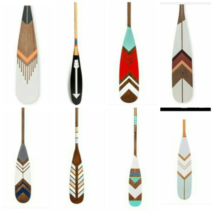 Tribal Painted Oars Canoe Paddles