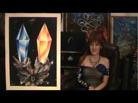 Космические кристаллы, жёлтый сапфир Space ART - Sapphire crystals