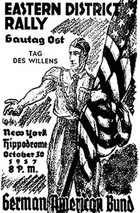 This is a German-American Bund poster from 1937.