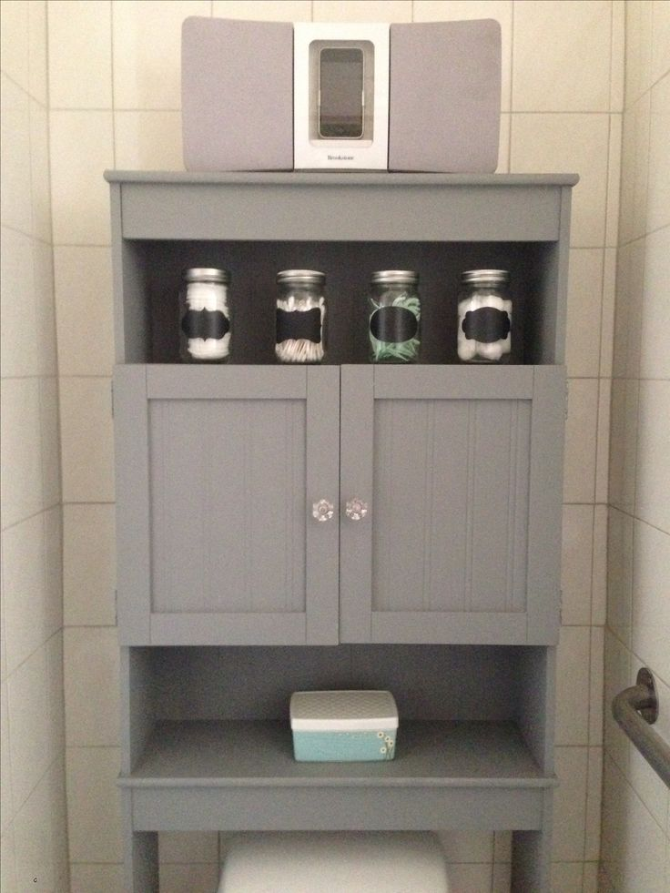 bathroom cabinet over the toilet redid the the toilet storage left by the 11114