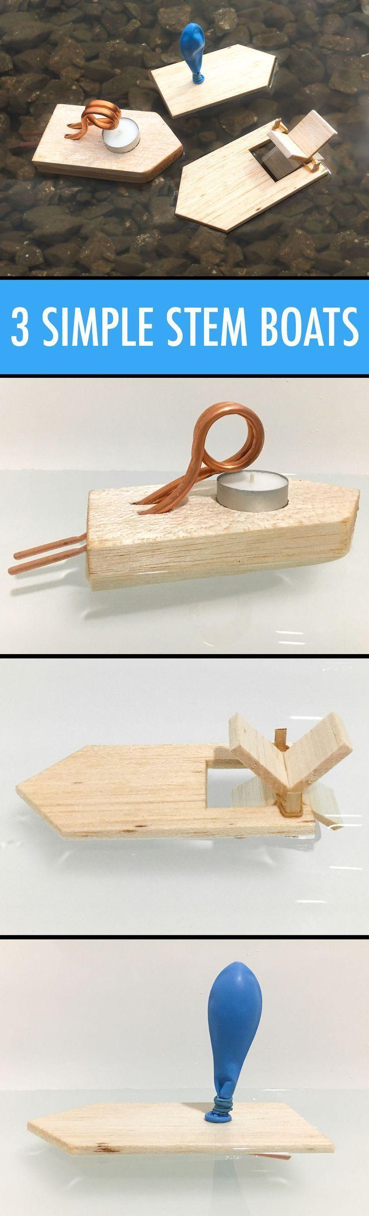Lernen hat Spaß gemacht mit diesen 3 einfachen STEM Bootsprojekten. #stem #crafts #kids #w … #WoodWorking