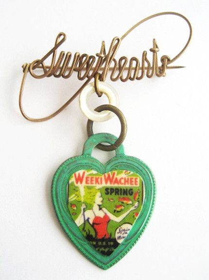 Weeki Wachee Mermaid Souvenir Sweetheart Pin