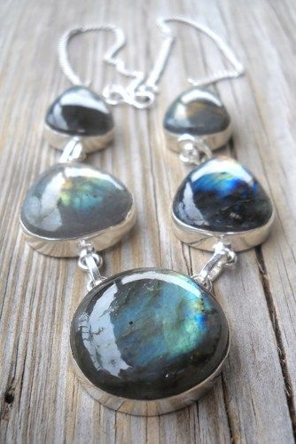 Silver Labradorite Necklace | pavlos - Jewelry on ArtFire